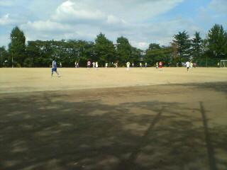 サッカー見物