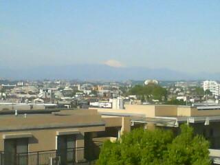 ベランダ富士