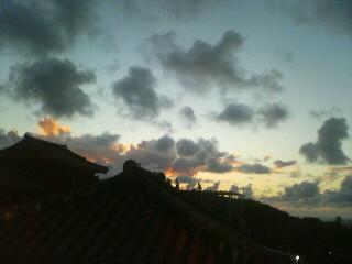 首里城の夕暮れ